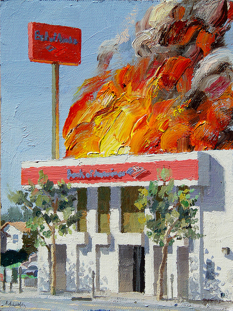 Alex Schaefer - Burning Protest - surface and surface