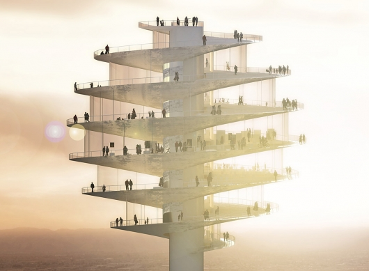 BIG - Phoenix observation tower - surface and surface